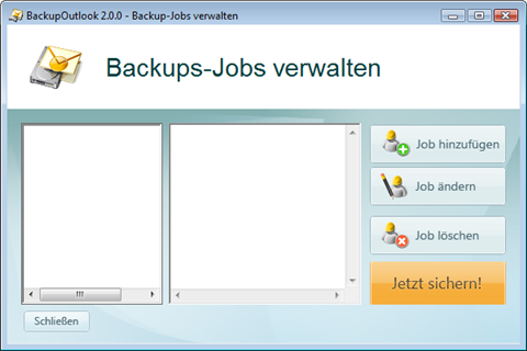 Backup Outlook Job Manager